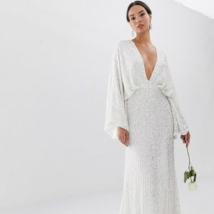 ISO- ASOS SEQUINED WEDDING DRESS